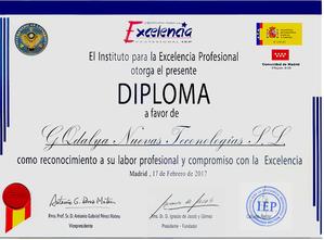 GQdalya. Premio estrella de oro del instituto para la excelencia profesional
